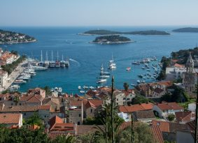 Hvar City Island on route from Blue Cave