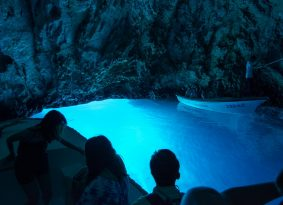 Blue Cave from Primosten Croatia