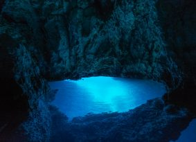 Blue Cave from Primosten Croatia